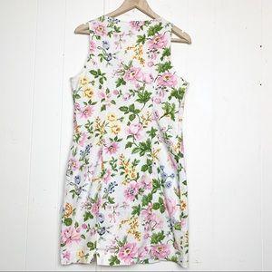 Esprit Dresses - Vintage Esprit Floral Button Front Sheath Dress